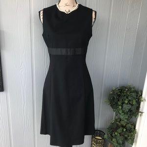 Zara slvls Black sheath dress with bow detail sz 8